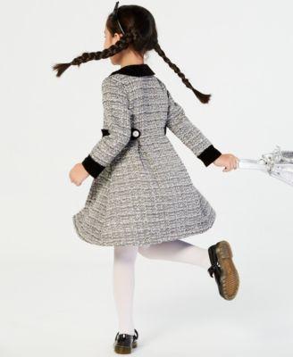 a7dd93d9ee60 Blueberi Boulevard Little Girls 2-Pc. Tweed Coat & Dress Set - Black 6X