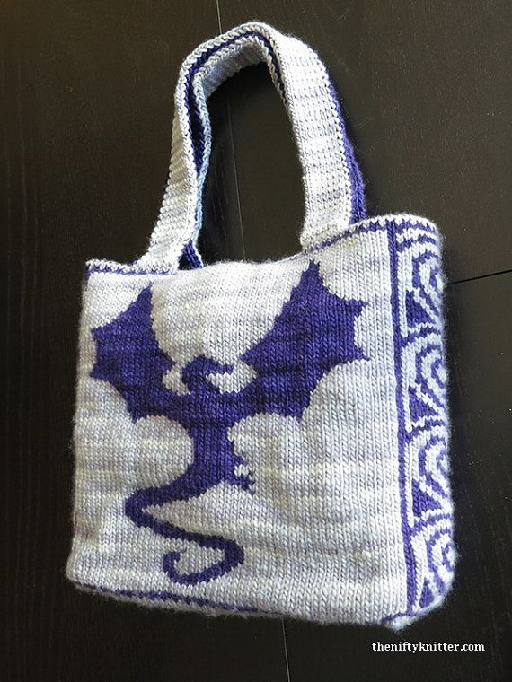 Knitting pattern for Reversible Dragonflight Bag - #ad The ...