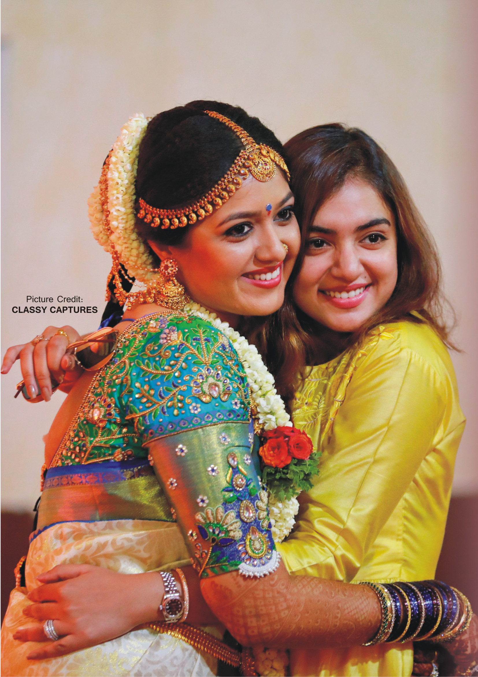 Bride Of Honor Bridal Magazine July 2018 Issue Featuring Celebrity Bride Meghana Raj S Wedding South Indian Bride Bridal Blouse Designs Wedding Blouse Designs