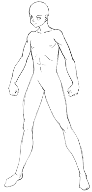 How To Draw Anime Body With Tutorial For Drawing Male Manga Bodies Drawing Anime Bodies Body Template Male Manga