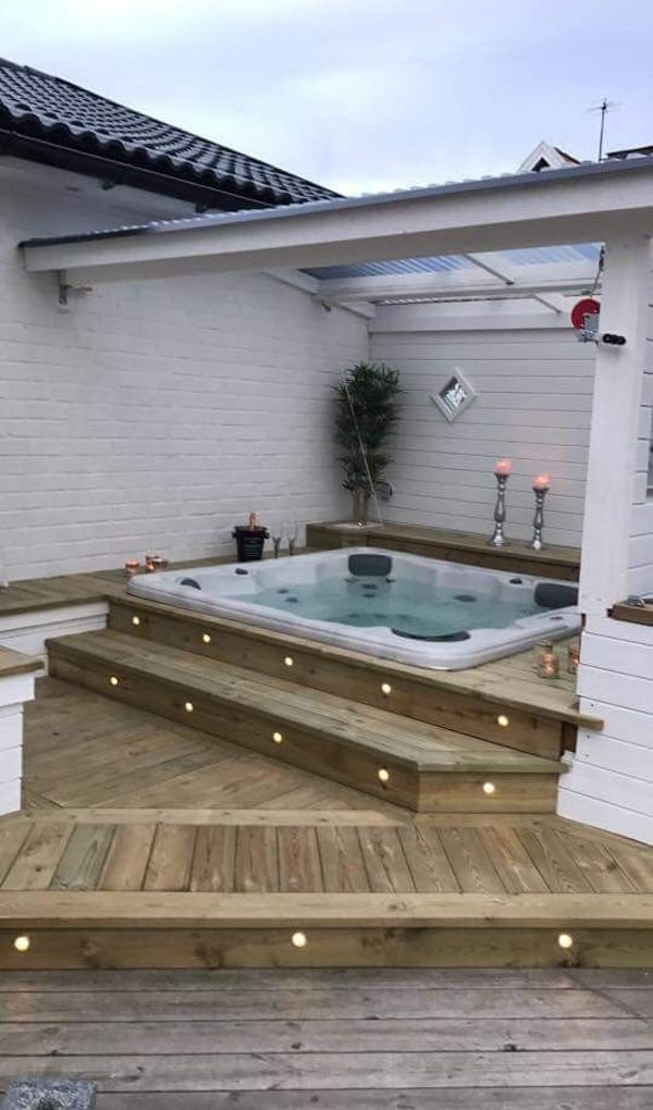 35 Cozy Outdoor Hot Tub Cover Ideas You Can Try | Home Design And Interior