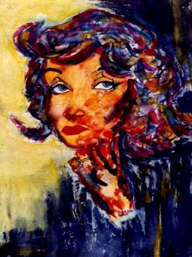 """Saatchi Art Artist CARMEN LUNA; Painting, """"27-Arte Exquisito. Marlene Dietrich es Arte."""" #art"""
