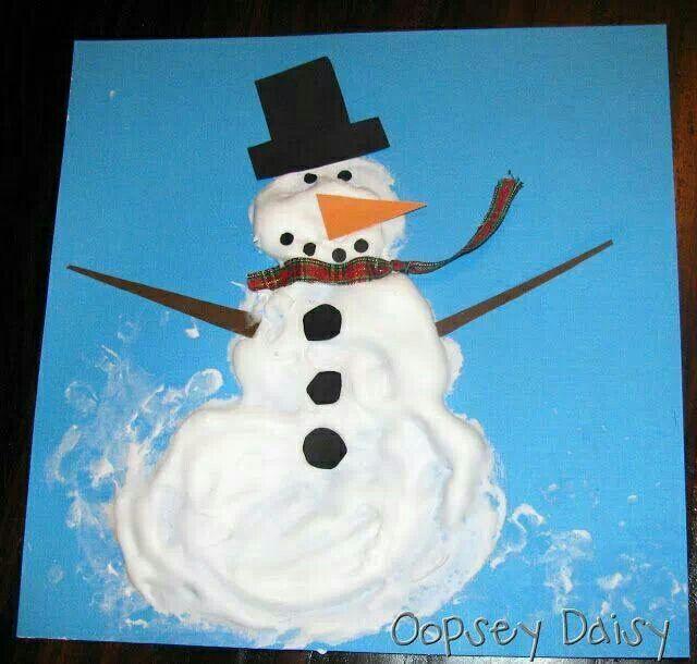 Sensory play, winter fun, shaving foam