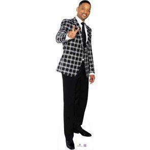 Will Smith wearing black check jacket - Lifesize Standup