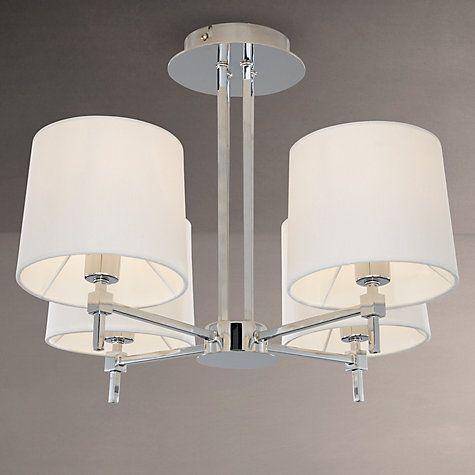 Lockhart ceiling light 4 light chrome ceiling lights john lewis buy john lewis lockhart ceiling light 4 light chrome online at johnlewis aloadofball Images