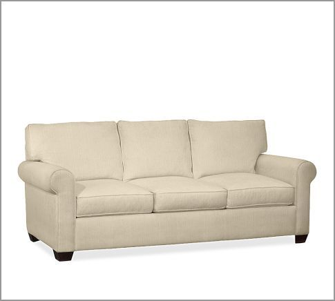 Buchanan Sofa Pottery Barn Oatmeal Slubby Basketweave This Is