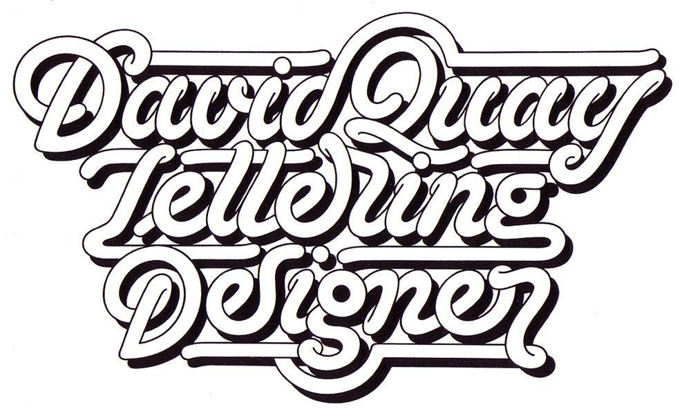 David Quay Lettering, Lettering design, Script lettering
