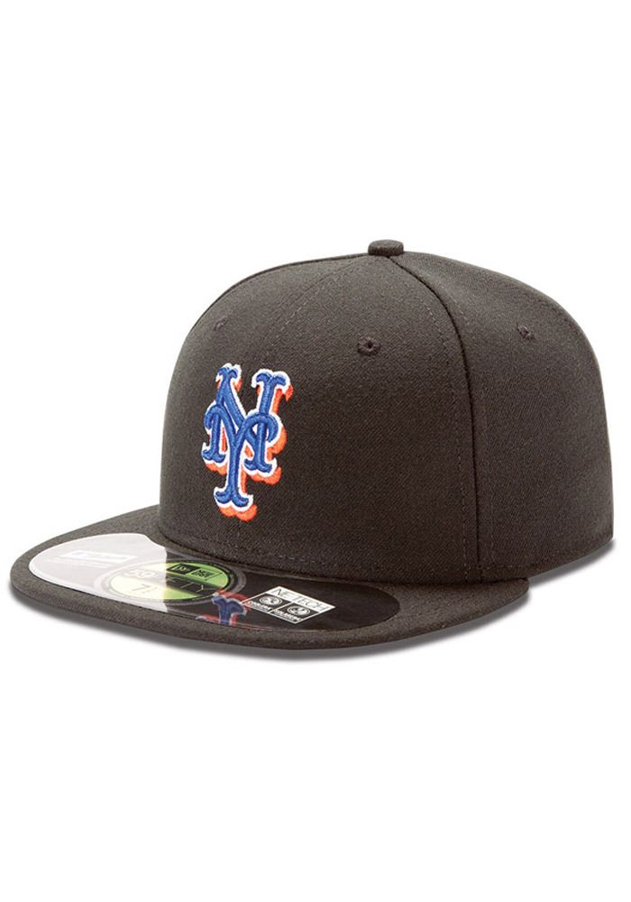 82837b9df5e New York Mets New Era Mens Black AC Alternate 1 59FIFTY Fitted Hat http