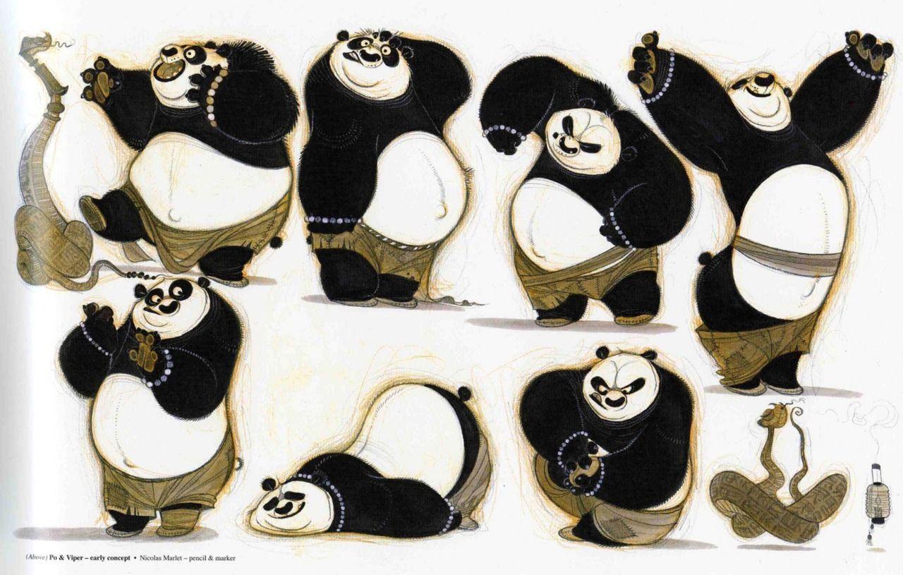Hobo Nickels and Fancy Dog Collars, Nicolas Marlet concept art for Kung Fu Panda (1 &...