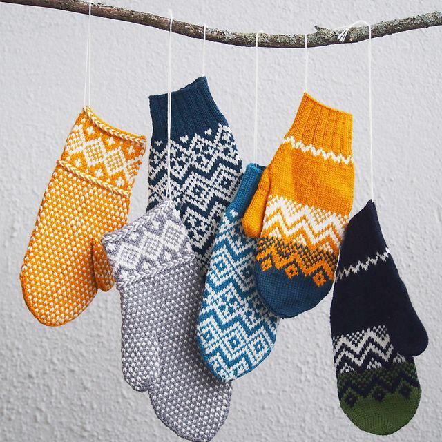 Vinterland pattern by Matilda Kruse | Guantes, Mitones y Tejido