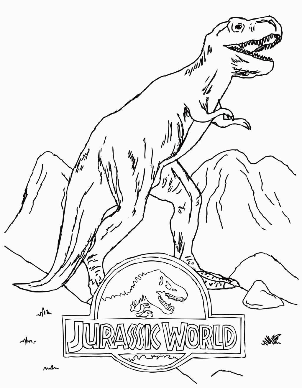 Jurassic World Coloring Sheets Dibujos Para Colorear Jurassic World Dibujos De Mario