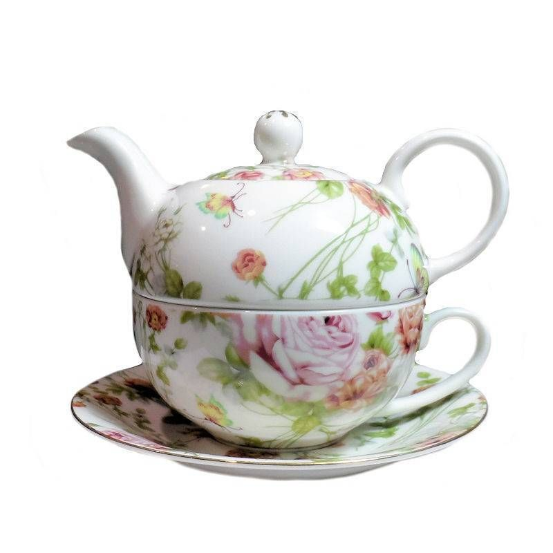 Fairy4u.com - Chintz Tea for One Set in Gift Box