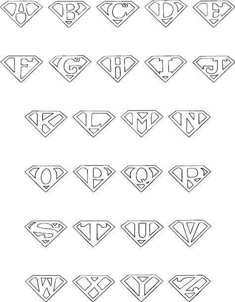 Superman alphabet for the color book #alphabet #color book