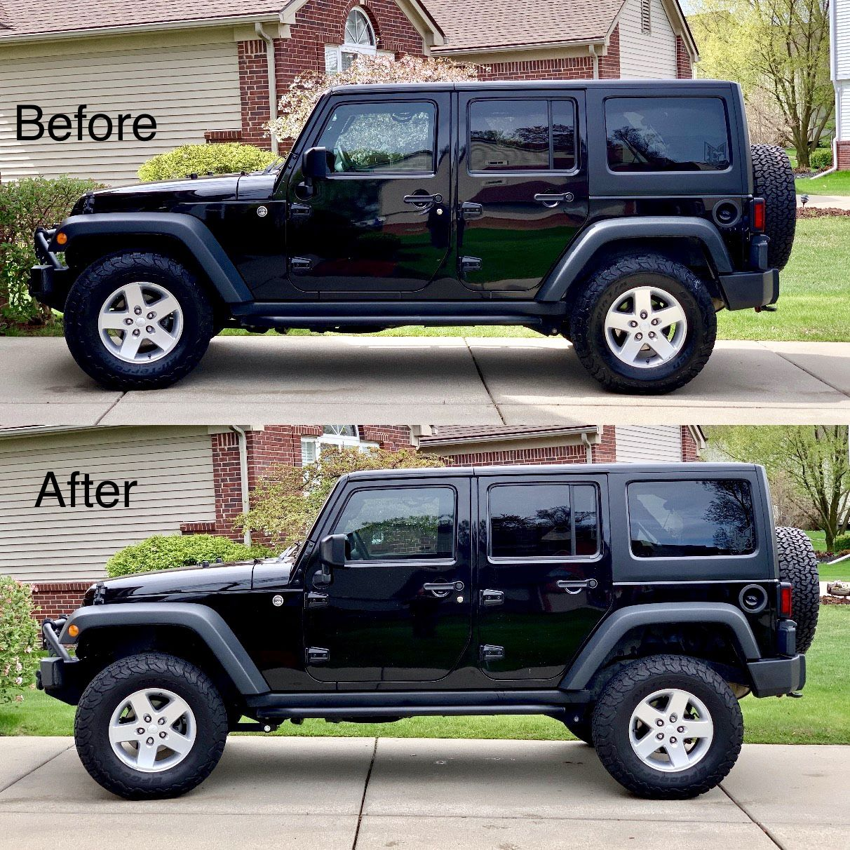 Aev 2 5 Lift On 33 Ko2s Before And After The Lift Jeep Jeep Life Monster Trucks