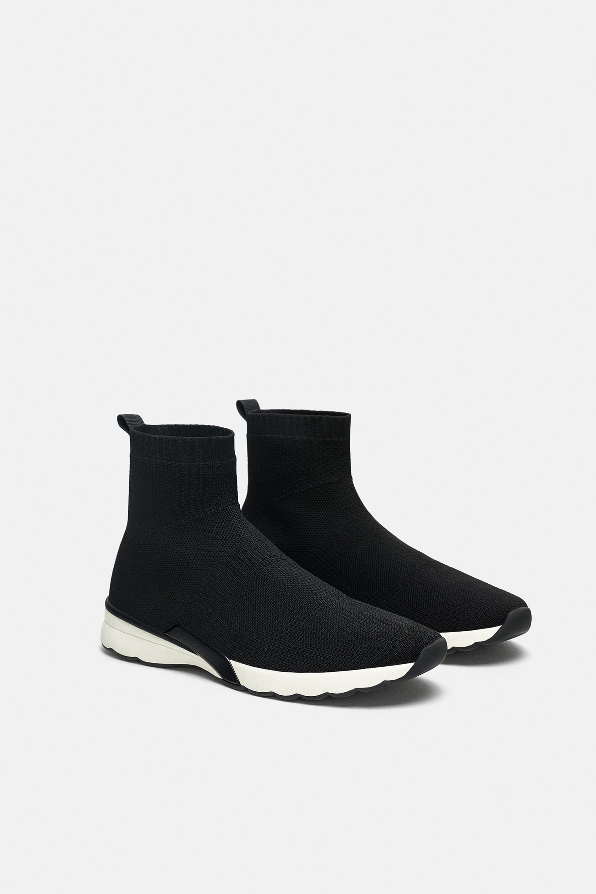 6fa1d767292 Image 3 of FABRIC HIGH-TOPS from Zara