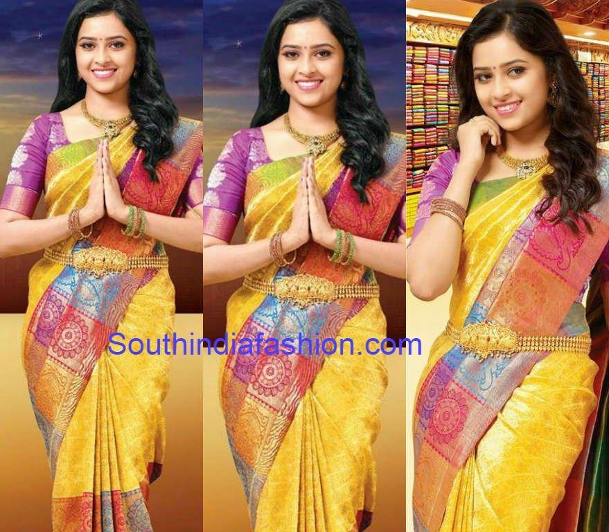 b264de07343f4d Sri Divya in Chennai Silks Bridal Saree