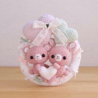 #uncinetto #crochet #amigurumi #fiocconascita #amore #love