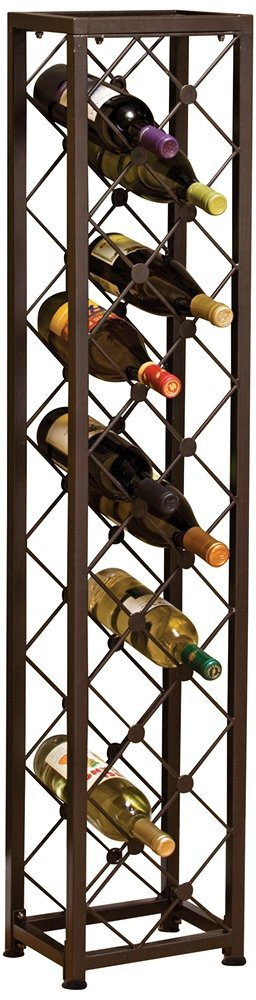 Evergreen 8wbm22002 Iron Tower Wine Rack Free Standing Racks