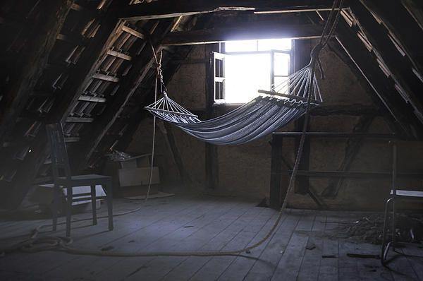 Hammock in the Attic - Karin Haas. Who sleeps here?