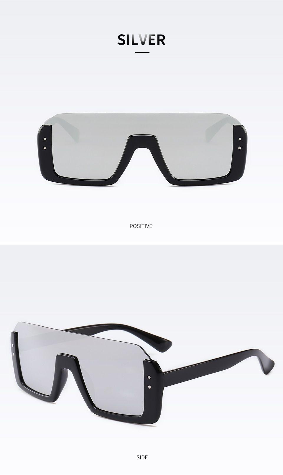 3b7c266850 2019 New Fashion Semi Rimless Sunglasses Men Women Retro Half Frame Sun Glasses  Mirror Coating Lens Lenses Oculos Sol Flat Top-in Sunglasses from Apparel  ...