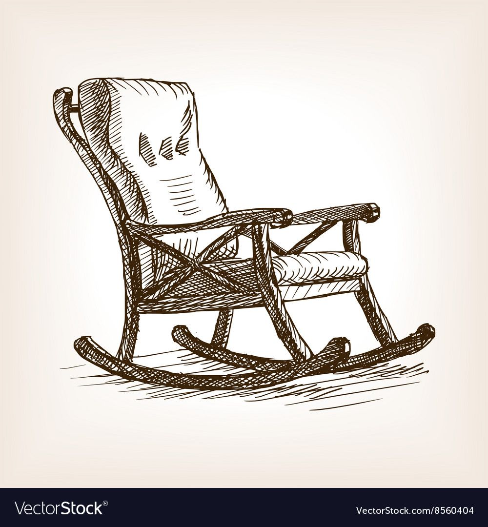 Rocking Chair Sketch Style Royalty Free Vector Image Affiliate Sketch Style Rocking Chair Ad Vector Free Free Vector Images Vector