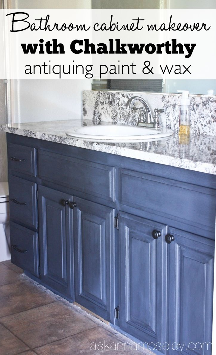 Sharing how I used Chalkworthy Antiquing Paint for painting bathroom ...