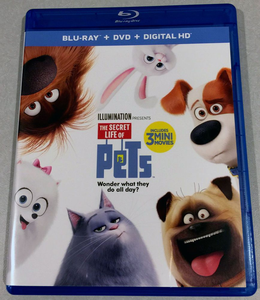 The Secret Life Of Pets Blu Ray Dvd 2016 Louis Ck Kevin Hart Dana Carvey Secret Life Of Pets Pets Movie Secret Life