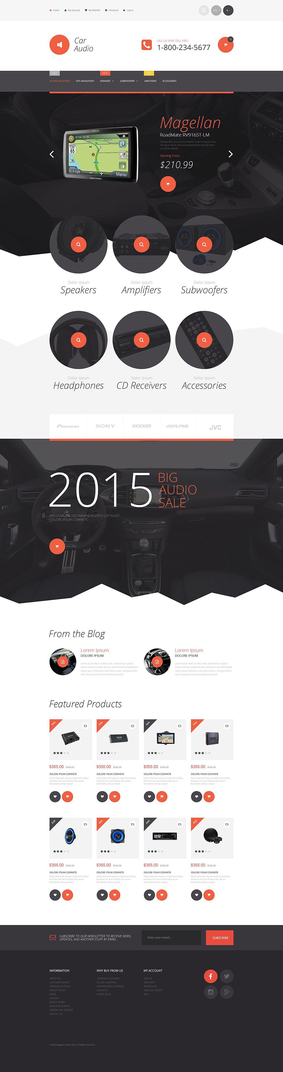 Car Stereo Magento Theme