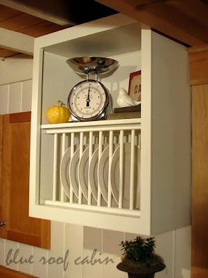 plate racks | ... how much work it would be to add a rack under an existing shelf