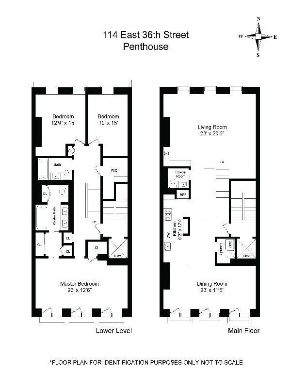 Floorplan Of A New York Brownstone Apartment
