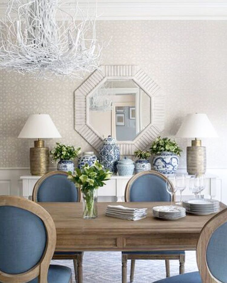 177 Likes, 12 Comments   Anna Wooten Loggins (@a.wooten_interiors) · Tiffany  BlueDining Room ...