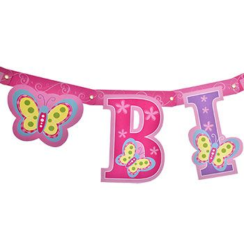 Bulk Happy Birthday Butterfly Letter Banners  Ft At Dollartree