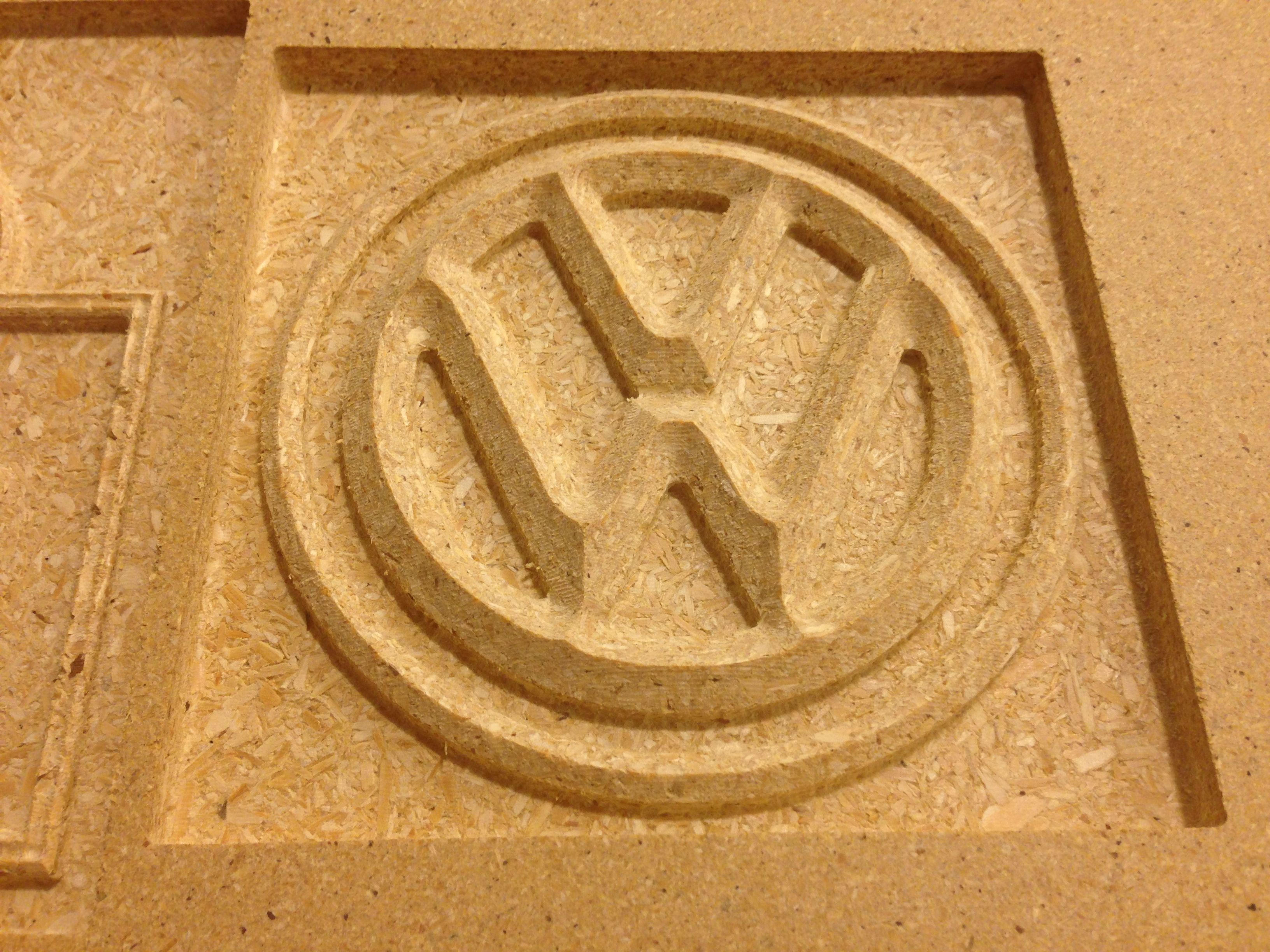 Wood Sign Vw 3d Cnc Engraved Router Cnc Routered
