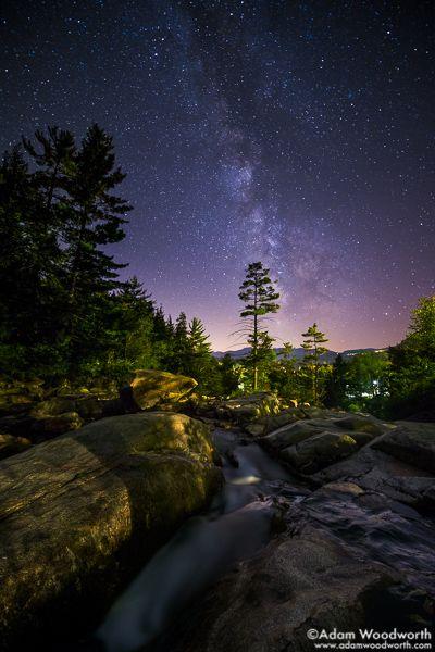 593 Milky Way Over Jackson Falls Jackson New Hampshire Astrophotography Landscape Night Photography