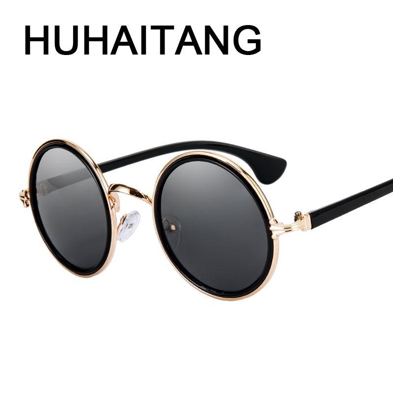 184cf732556d HUHAITANG luxury brand steampunk sunglasses women vintage round men punk sun  glasses for female quality brand designer eyewear