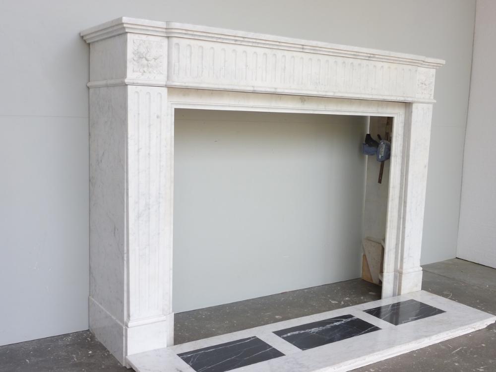 cheminee marbre blanc occasion