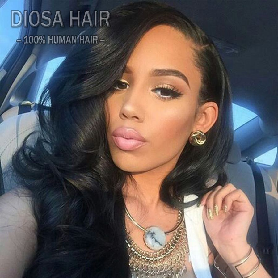 Brazilian virgin hair full lace human hair wigs wavy with baby hair