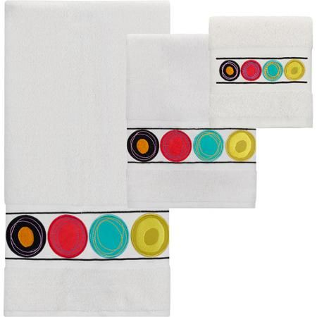 Creative Bath Dot Swirl Bright 3-Piece Towel Set
