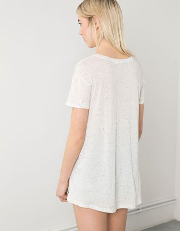 Camiseta Bershka estampado flores - Bershka - Bershka España