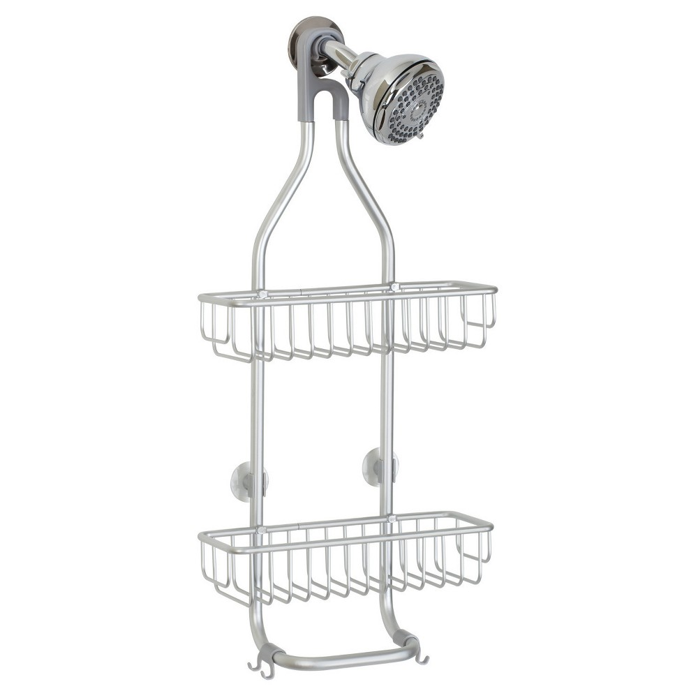 InterDesign Rustproof Aluminum Bathroom Shower Caddy Silver