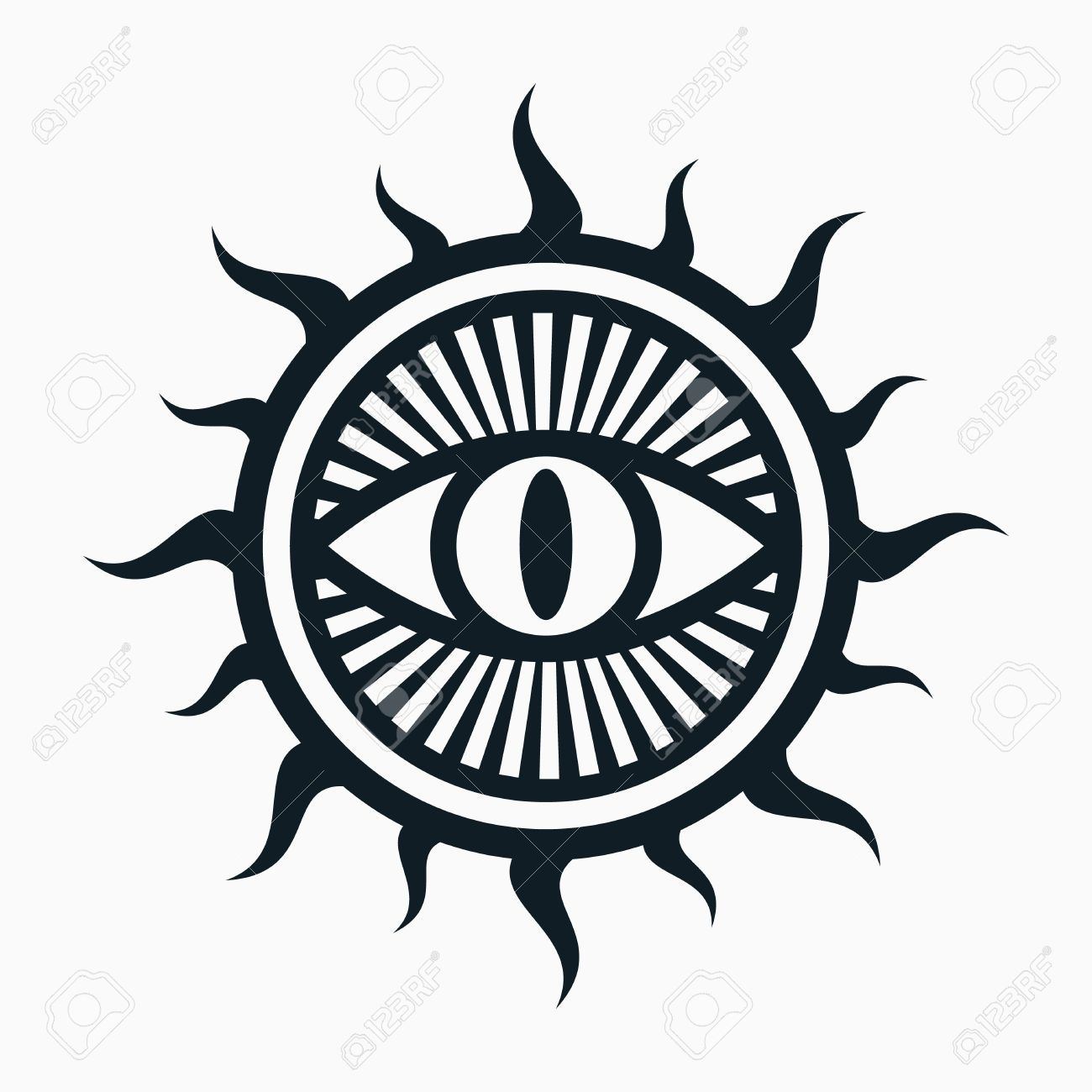 Occult symbol, eye in sun symbol Occult symbols, Occult
