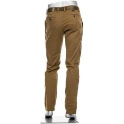 Photo of Alberto men's chinos Lou, regular slim fit, cotton T400, brown Albertoalberto