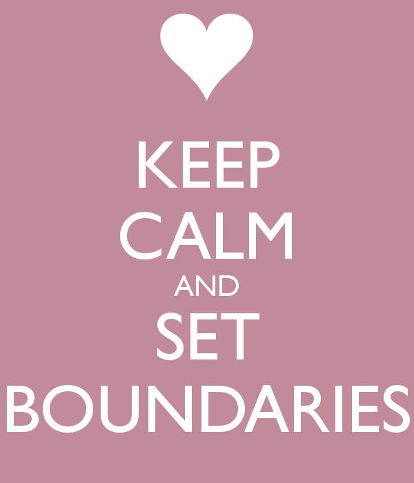KEEP CALM AND SET BOUNDARIES Poster   Holly   Keep Calm-o-Matic