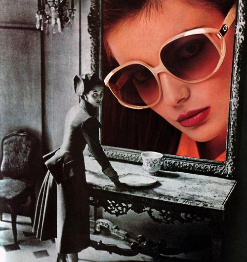 Christian Dior eyewear, Elle magazine, September 1986.