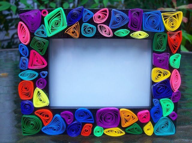 Handmade Photo Frame Craft Project Photo Frame Crafts Picture