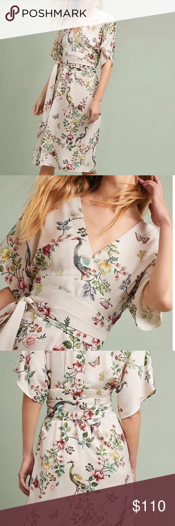 a872ae2ad16e4 Anthropologie DRA Las Angeles Avian kimono 4 NWT This is a brand new item,  purchased on line and it does not fit me. Gorgeous dress.