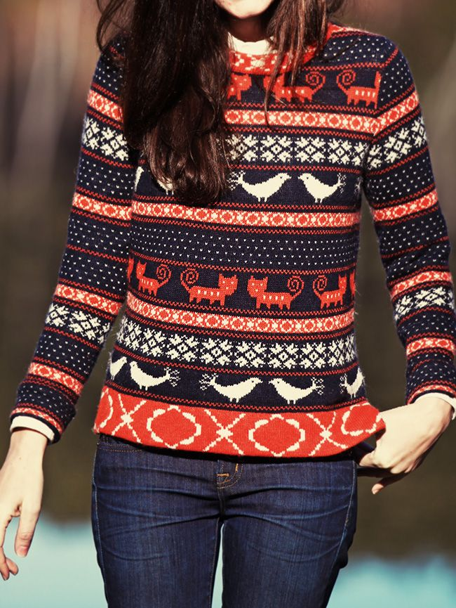 Oh my gosh so cute! My professor was wearing this sweater today ...