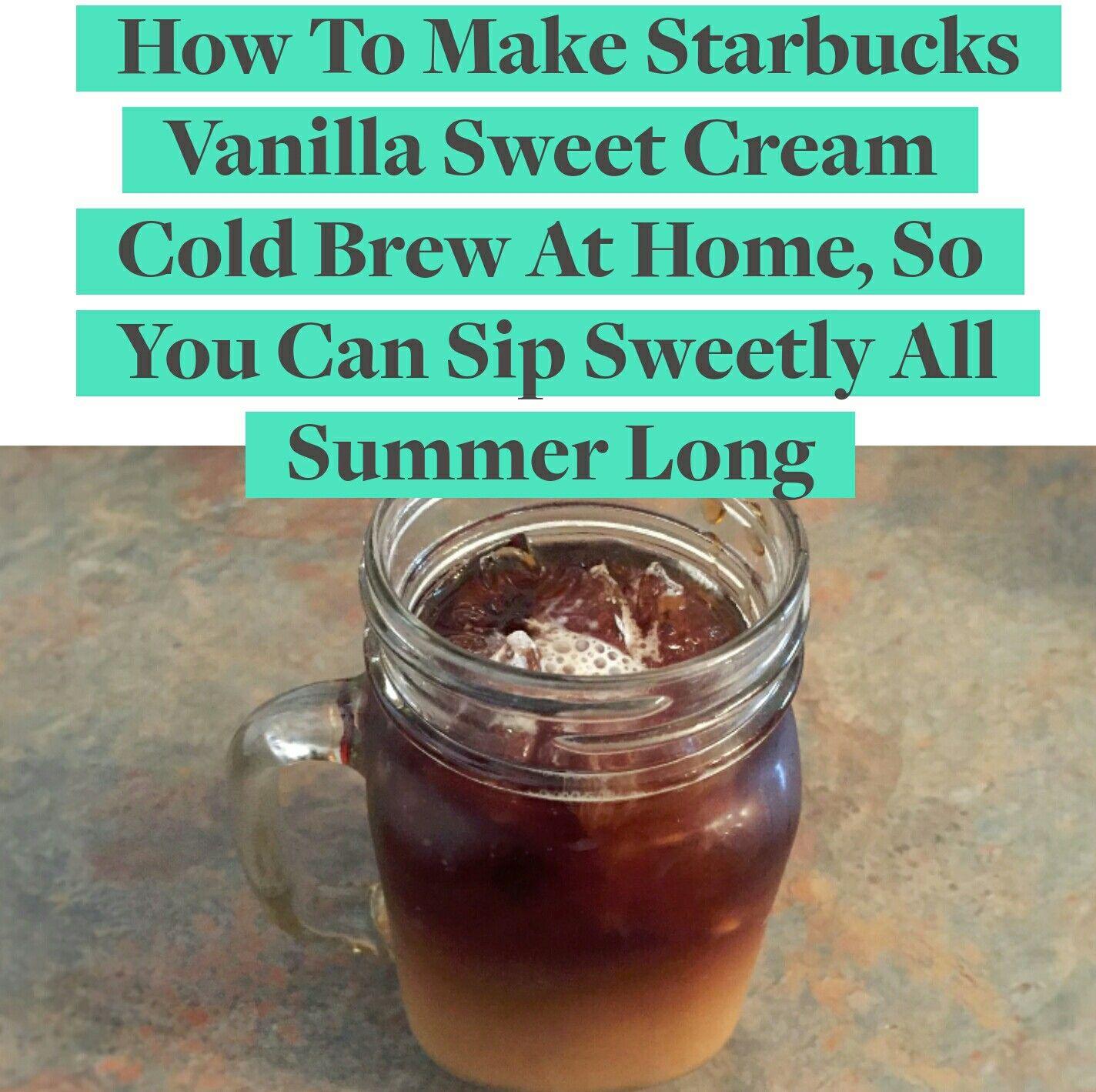 How to make starbucks vanilla sweet cream cold brew at