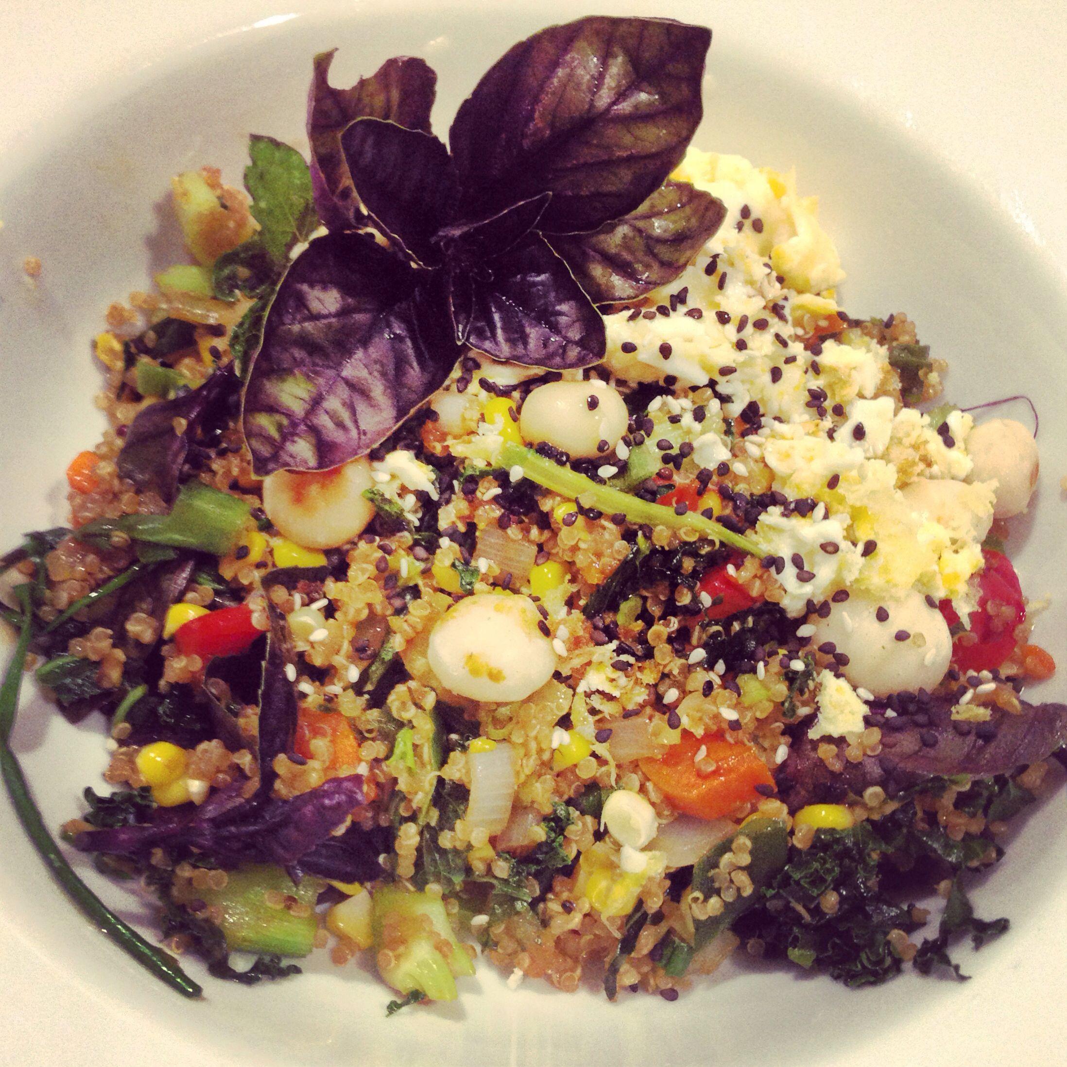 Quinoa nasi goreng whole food