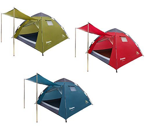 KingC& Monza Easy Up 3 person 3 Man 3000mm Waterproof Fire Resistant Dome Tent For C&ing  sc 1 st  Pinterest & KingCamp Monza Easy Up 3 person 3 Man 3000mm Waterproof Fire ...